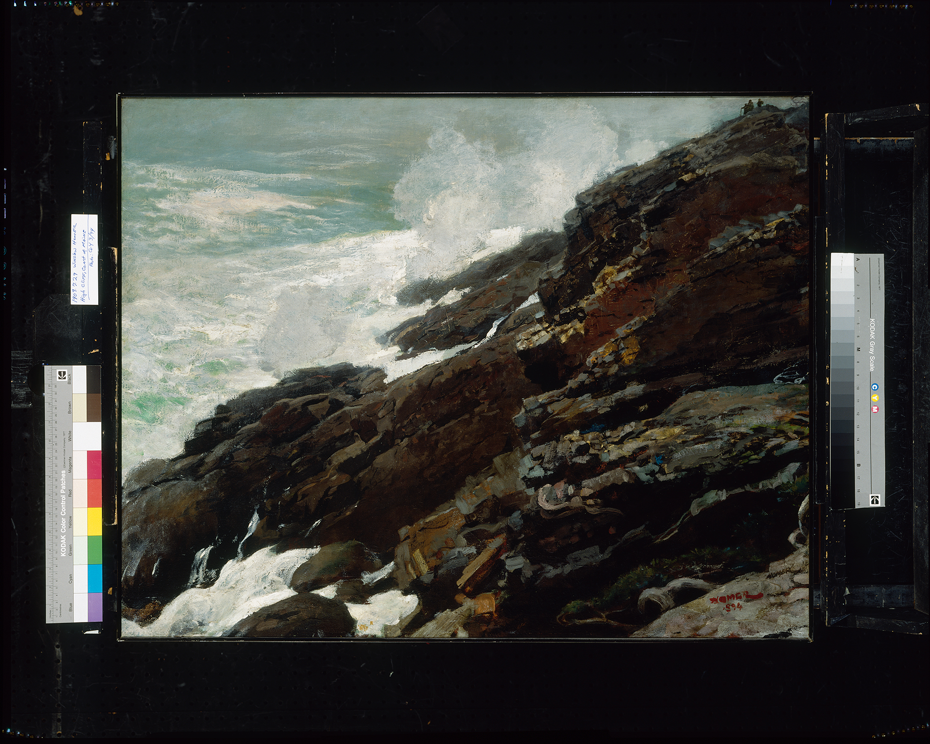 High Cliff, Coast of Maine Winslow Homer; 1894 Smithsonian American Art Museum, Gift of William T. Evans